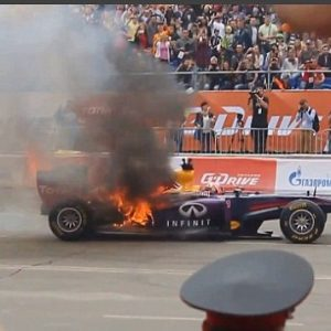 red bull fire