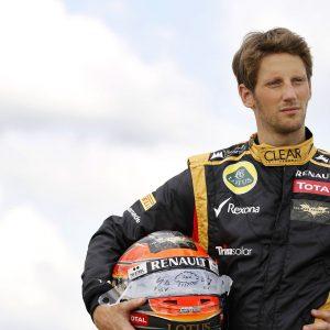 2012 British Grand Prix - Thursday Silverstone, Northamptonshire, England 5th July 2012 Romain Grosjean, Lotus E20 Renault.