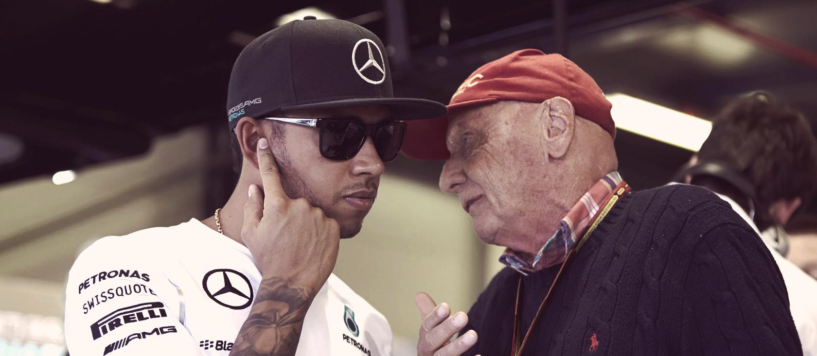 Lewis Hamilton Niki Lauda Mercedes F1 2014