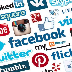 Social network logo digital marketing