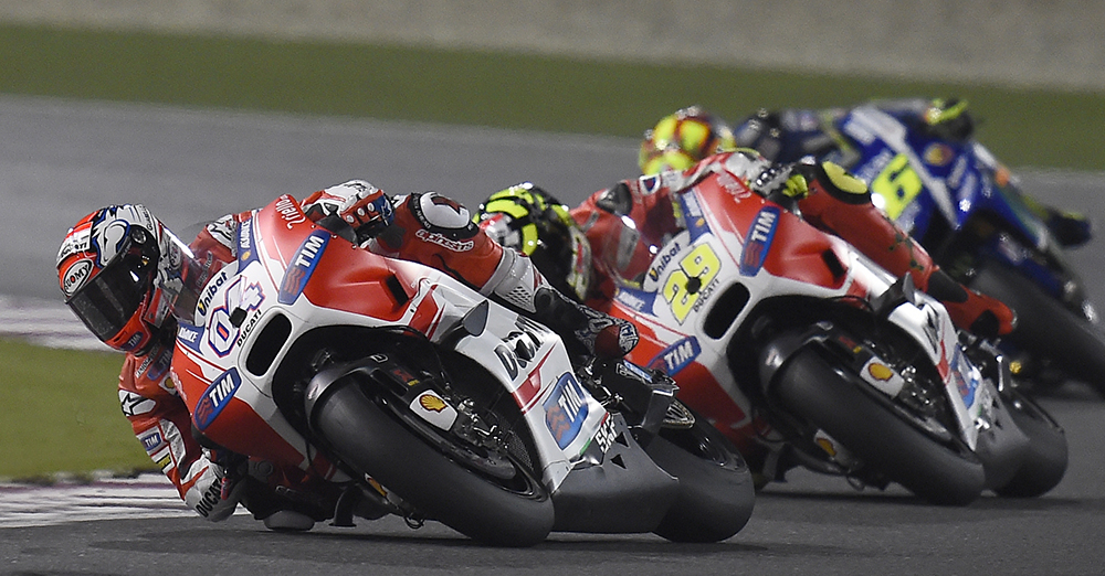 Ducati Press Release: Dovi e Iannone, che Ducati spettacolare