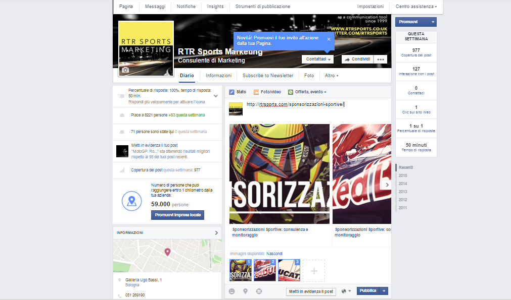 rtr sports marketing facebook tendenze2