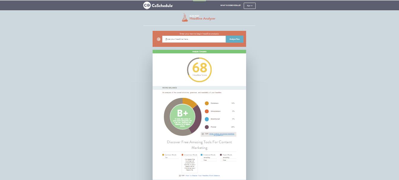 content marketing tool strumento