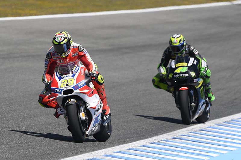 MotoGP: Jerez amara per le Ducati. Iannone 7°, Dovi ritirato