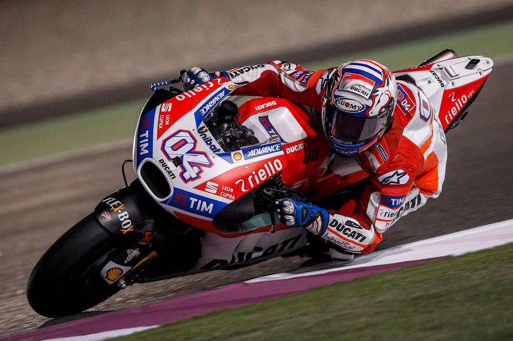 Ducati, in Qatar meraviglioso Dovizioso (2°). Ancora indietro Lorenzo (11°)