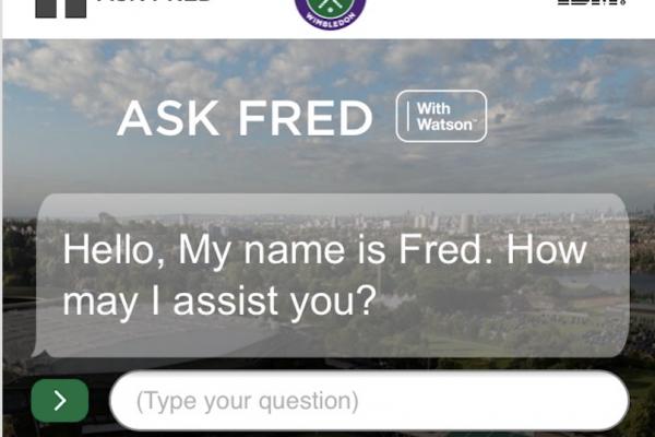 Fred Chat Bot Wimbledon