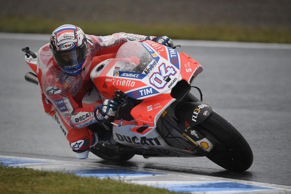Ducati, inizio positivo per Dovi e Lorenzo in Giappone